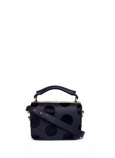 Sophie Hulme'Finsbury' flocked polka dot calfhair leather shoulder bag