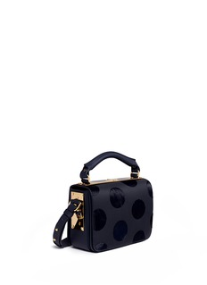 Sophie Hulme 'Finsbury' flocked polka dot calfhair leather shoulder bag