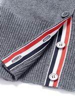 Stripe sleeve cashmere cardigan