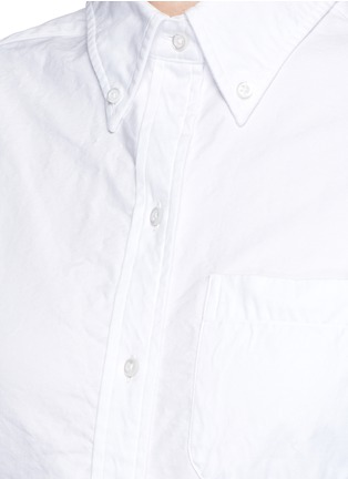 Detail View - Click To Enlarge - Thom Browne - Cotton Oxford shirt dress