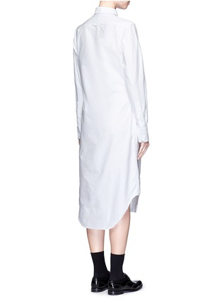 Back View - Click To Enlarge - Thom Browne - Cotton Oxford shirt dress
