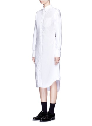 Front View - Click To Enlarge - Thom Browne - Cotton Oxford shirt dress