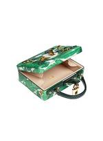 'Dolce Box' snakeskin trim embellished leather bag