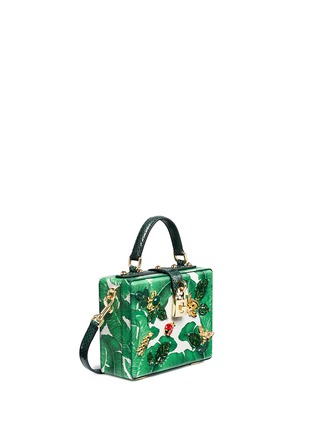 Figure View - Click To Enlarge - Dolce & Gabbana - 'Dolce Box' snakeskin trim embellished leather bag
