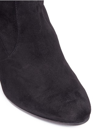 Detail View - Click To Enlarge - Stuart Weitzman - 'Keenland' stretch suede knee high boots