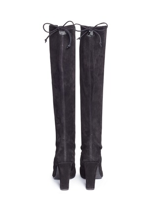 Back View - Click To Enlarge - Stuart Weitzman - 'Keenland' stretch suede knee high boots