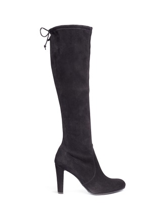 Main View - Click To Enlarge - Stuart Weitzman - 'Keenland' stretch suede knee high boots
