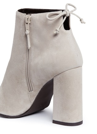 Detail View - Click To Enlarge - Stuart Weitzman - 'Grandiose' suede ankle boots