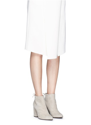 Figure View - Click To Enlarge - Stuart Weitzman - 'Grandiose' suede ankle boots