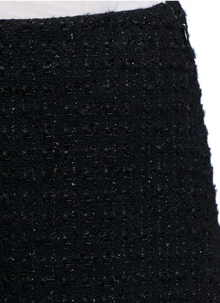 Detail View - Click To Enlarge - Giamba - Metallic tweed virgin wool blend shorts