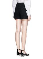 Metallic tweed virgin wool blend shorts