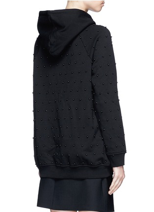 Giamba-Beaded cotton hoodie