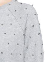 Beaded raglan sleeve cotton sweatshirt