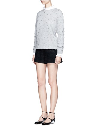 Figure View - Click To Enlarge - Giamba - Beaded raglan sleeve cotton sweatshirt