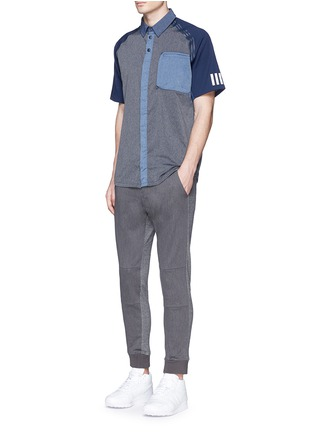 Figure View - Click To Enlarge - Adidas By White Mountaineering - Patchwork shirt