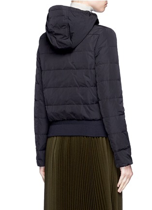 Back View - Click To Enlarge - Moncler - 'Agathe' hooded quilted down jacket