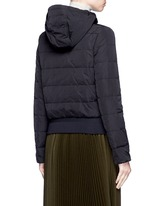 'Agathe' hooded quilted down jacket