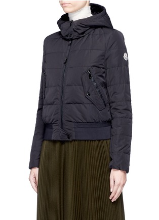 Front View - Click To Enlarge - Moncler - 'Agathe' hooded quilted down jacket