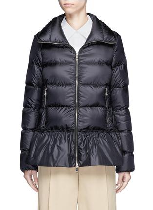 Moncler-'Anet' ruffle hem padded down jacket