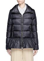 'Anet' ruffle hem padded down jacket