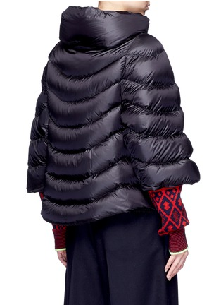 Back View - Click To Enlarge - Moncler - 'Akylina' padded down cape jacket