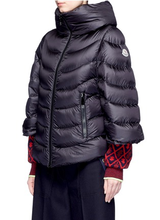 Front View - Click To Enlarge - Moncler - 'Akylina' padded down cape jacket