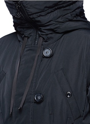 Detail View - Click To Enlarge - Moncler - 'Aredhel' fox fur drawstring hood twill down parka