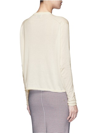 Back View - Click To Enlarge - Acne Studios - 'Caci' kid mohair trim cotton sweater