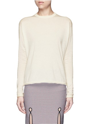 Main View - Click To Enlarge - Acne Studios - 'Caci' kid mohair trim cotton sweater