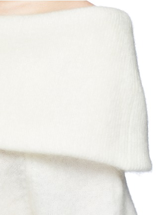 Detail View - Click To Enlarge - Acne Studios - 'Daze' foldover collar mohair blend sweater