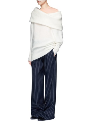 Figure View - Click To Enlarge - Acne Studios - 'Daze' foldover collar mohair blend sweater