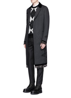 Alexander McQueen Butterfly embroidered wool twill coat