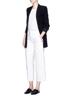 THEORY'Bakeeve' fold cuff silk georgette T-shirt