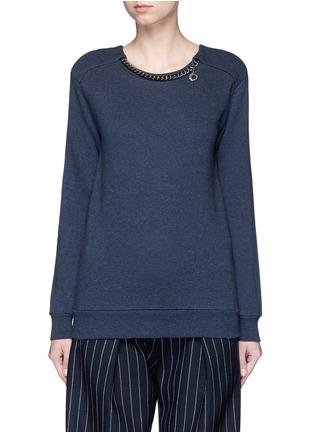 首图 - 点击放大 - STELLA MCCARTNEY - FALABELLA链条装饰纯棉卫衣