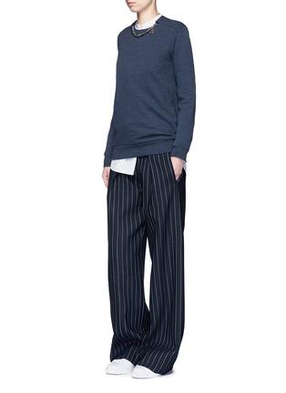 模特儿示范图 - 点击放大 - STELLA MCCARTNEY - FALABELLA链条装饰纯棉卫衣