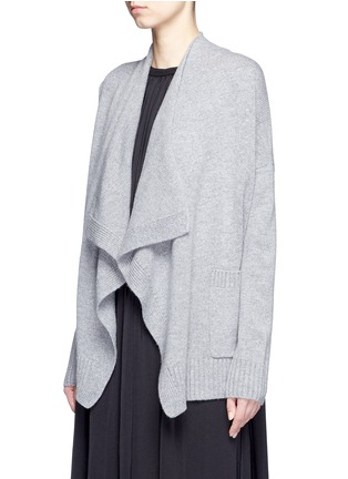 Front View - Click To Enlarge - Vince - Drape front wool-cashmere cardigan