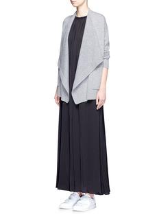 VinceDrape front wool-cashmere cardigan