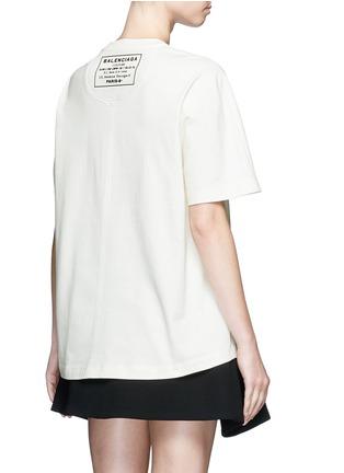 Back View - Click To Enlarge - Balenciaga - Logo stamp print jersey T-shirt