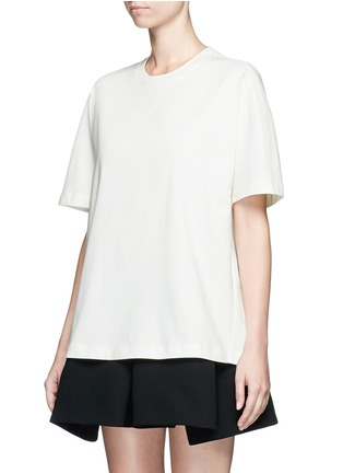 Front View - Click To Enlarge - Balenciaga - Logo stamp print jersey T-shirt