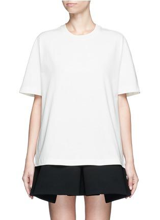 Main View - Click To Enlarge - Balenciaga - Logo stamp print jersey T-shirt