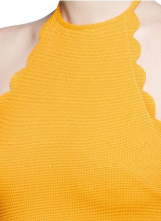 Detail View - Click To Enlarge - Marysia - 'Mott' scalloped halterneck dress
