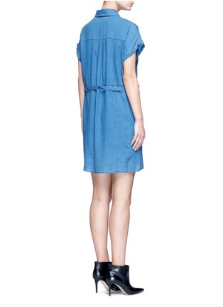 J Brand - 'Kayden' half belt cotton-silk shirt dress