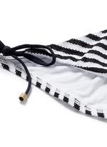 'Natalie' ruched back side tie stripe bikini bottoms