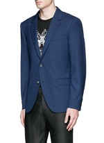 Slim fit notch lapel wool blazer