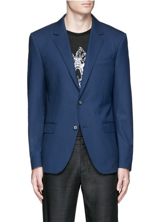 Main View - Click To Enlarge - Alexander McQueen - Slim fit notch lapel wool blazer