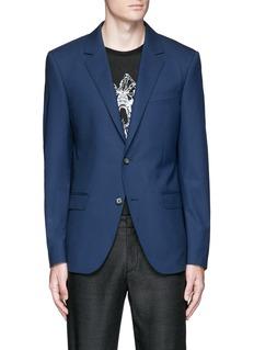 Alexander McQueenSlim fit notch lapel wool blazer