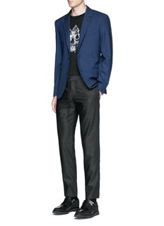 Alexander McQueen Slim fit notch lapel wool blazer
