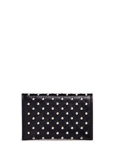 ALEXANDER MCQUEEN Skull stud envelope leather card holder
