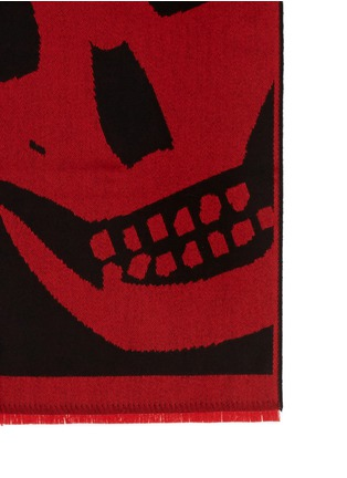 Detail View - Click To Enlarge - Alexander McQueen - Macro skull jacquard oblong scarf