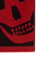 Macro skull jacquard oblong scarf